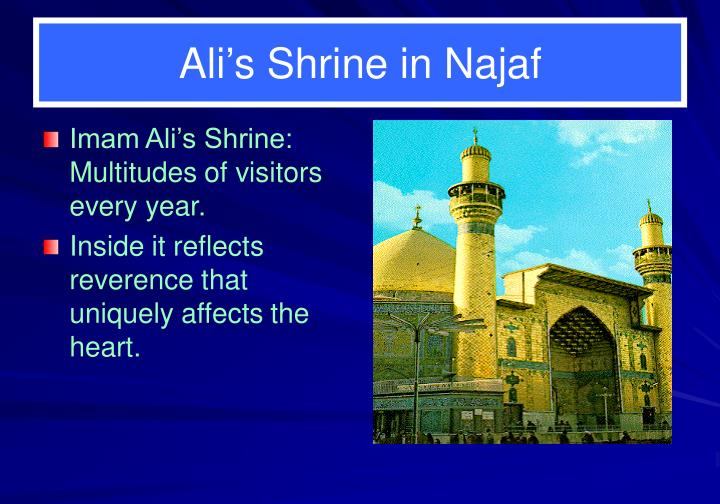 Imam Ali's Shrine:  Multitudes of visitors every year.