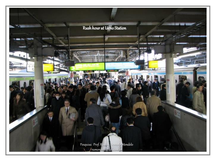 Rush hour at Ueno Station