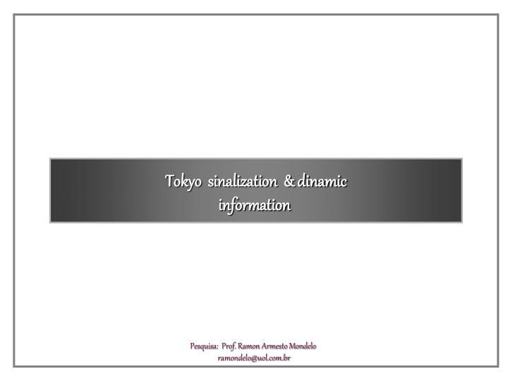 Tokyo  sinalization  & dinamic