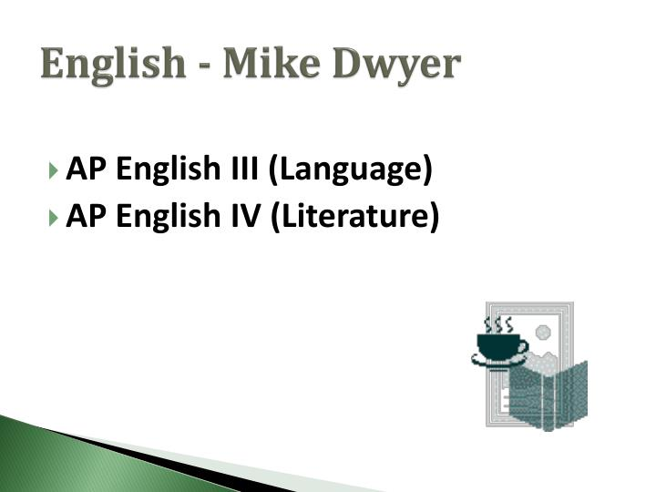 English - Mike Dwyer