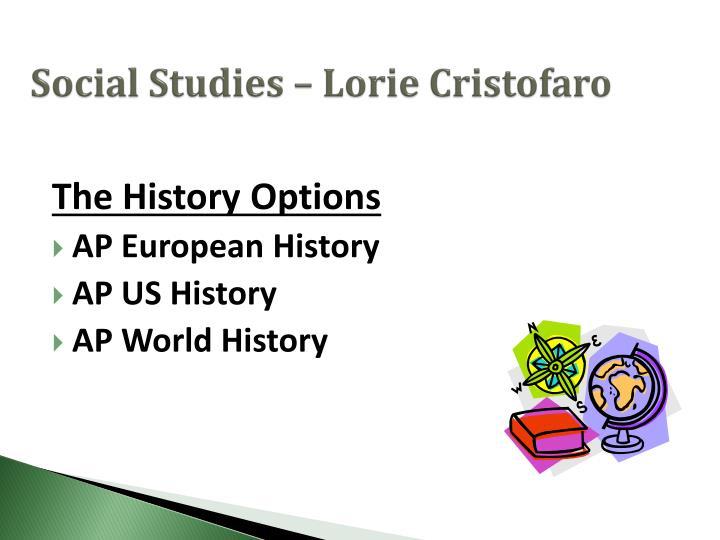 Social Studies – Lorie Cristofaro