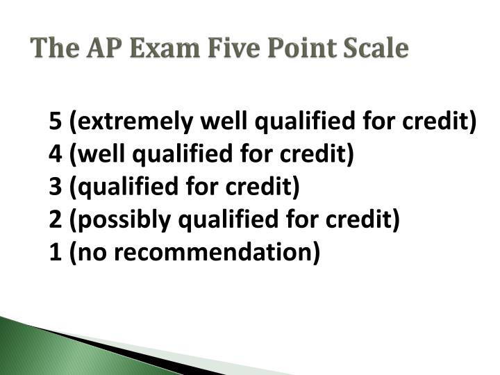 The AP Exam Five Point Scale