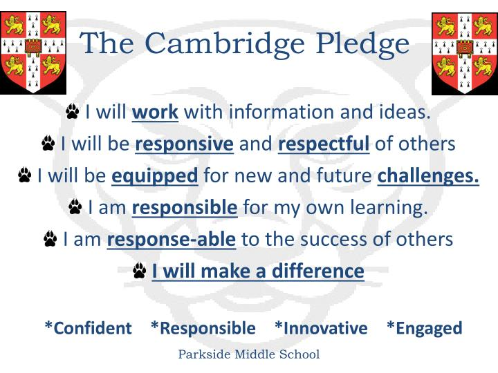 The Cambridge Pledge