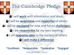 the cambridge pledge