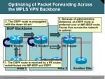optimizing of packet forwarding across the mpls vpn backbone