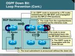 ospf down bit loop prevention cont