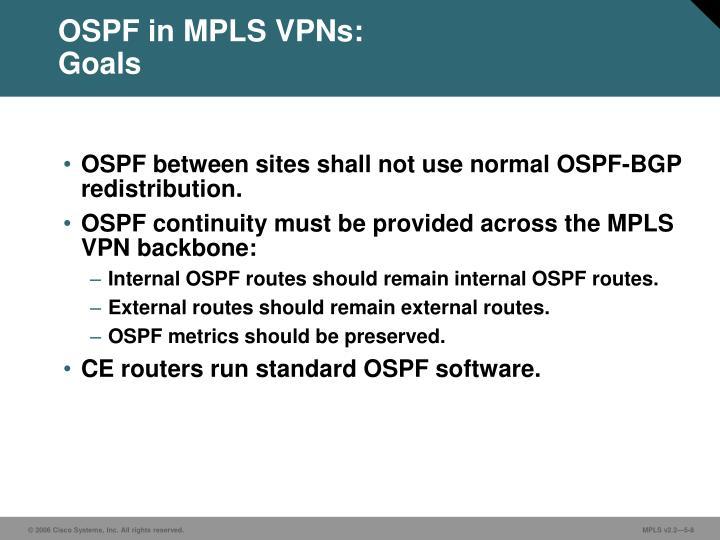 OSPF in MPLS VPNs: