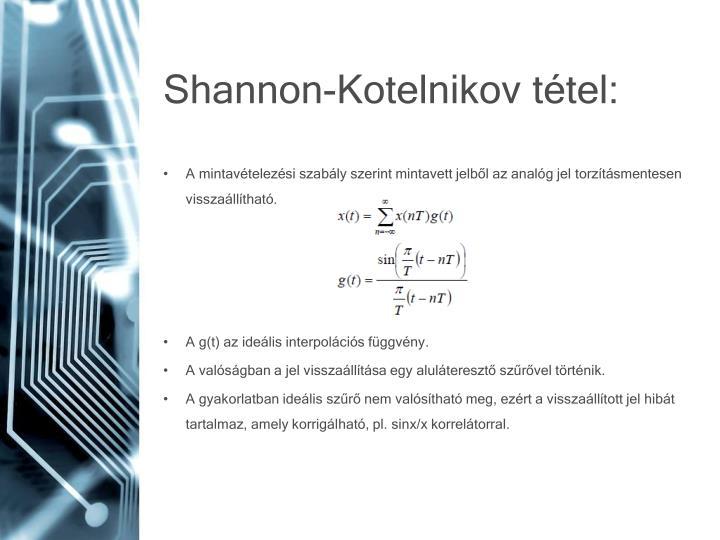 Shannon-Kotelnikov