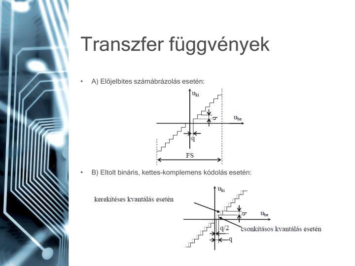 Transzfer függvények
