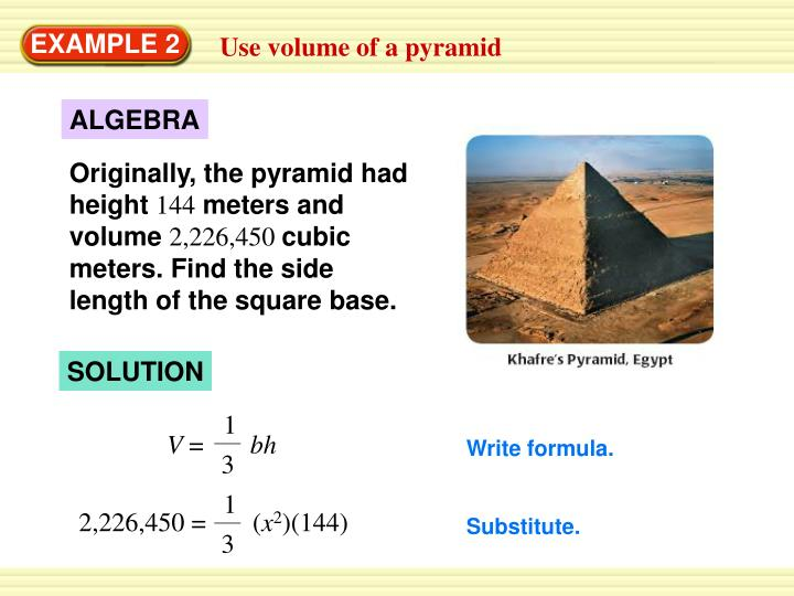 Originally, the pyramid had height