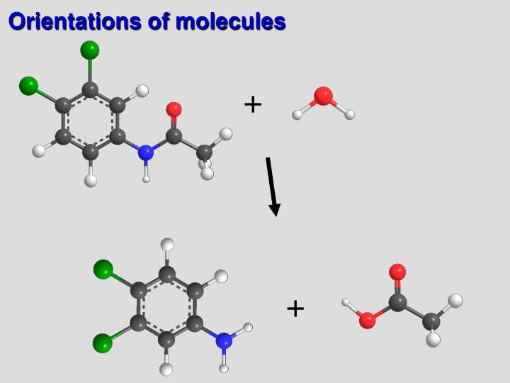Orientations of molecules