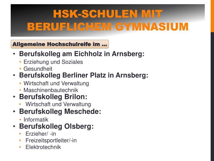 HSK-Schulen mit