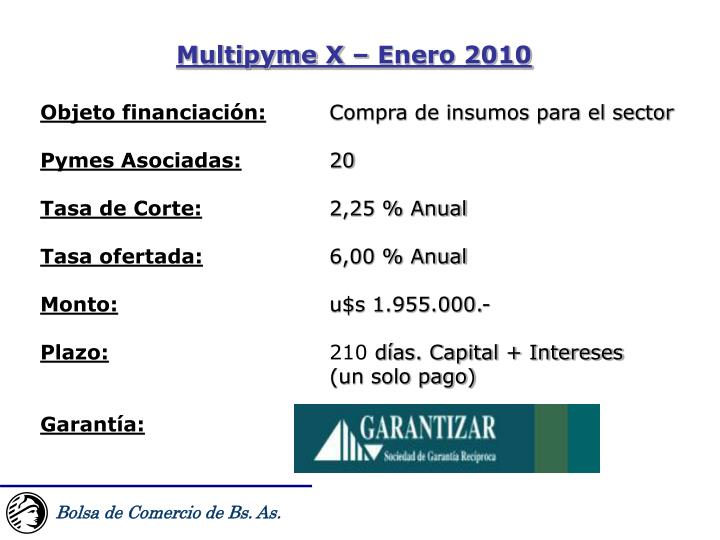 Multipyme X – Enero 2010