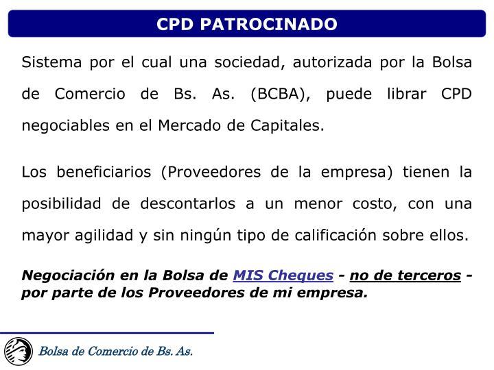 CPD PATROCINADO
