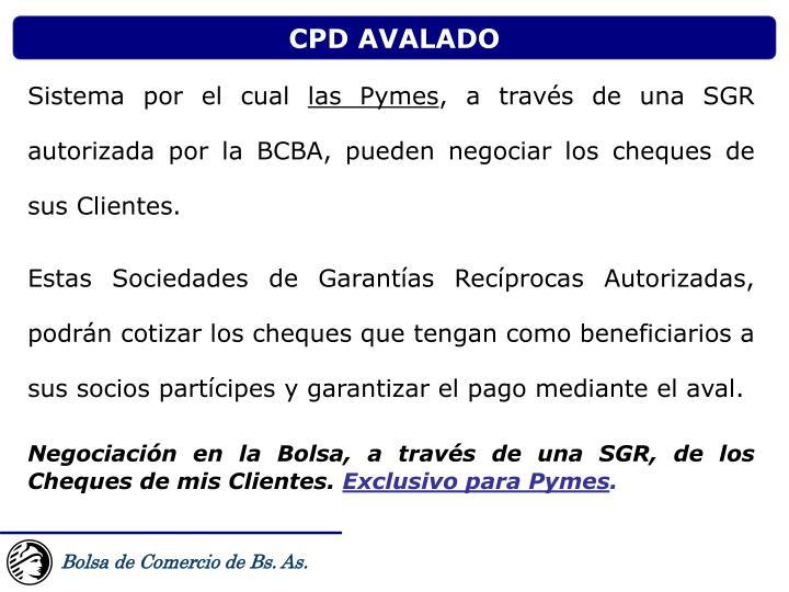 CPD AVALADO