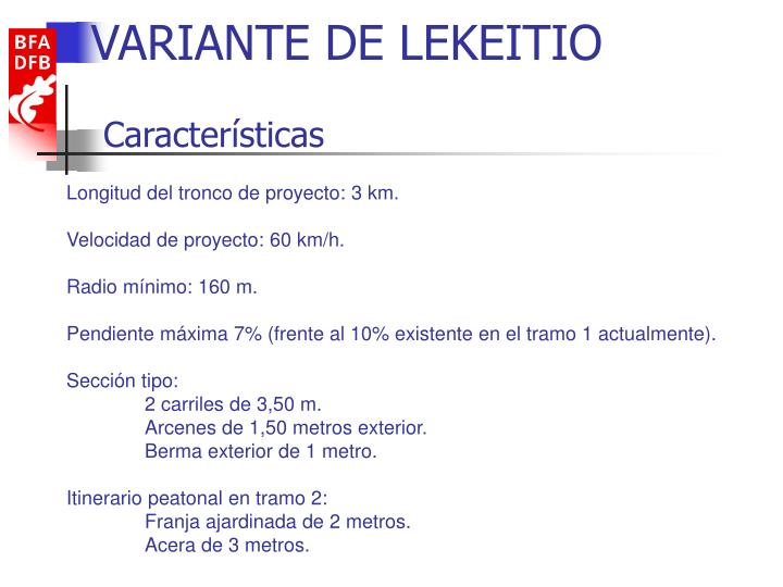 VARIANTE DE LEKEITIO