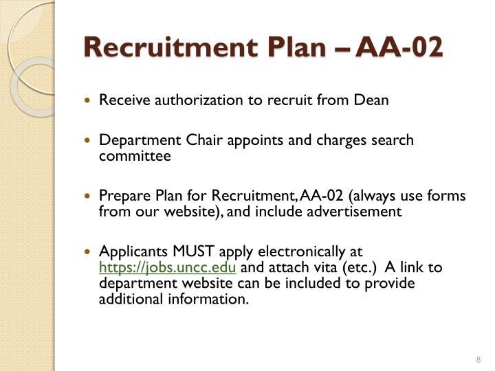 Recruitment Plan – AA-02