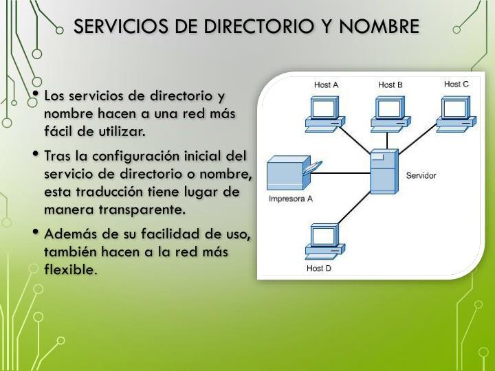 Servicios de directorio y nombre