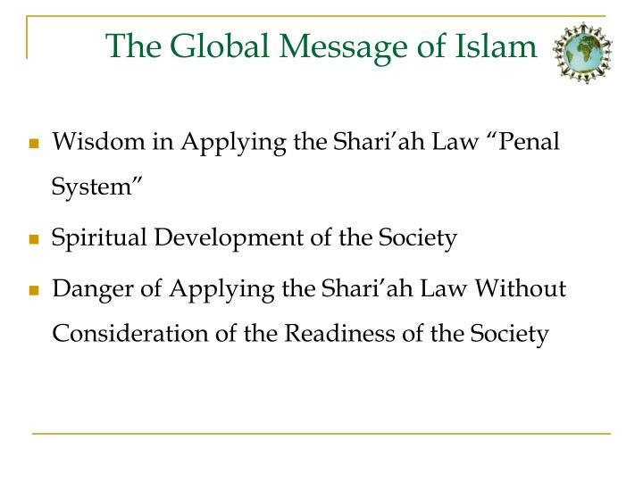 The Global Message of Islam