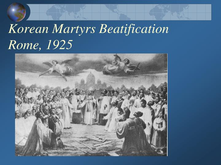 Korean Martyrs Beatification Rome, 1925