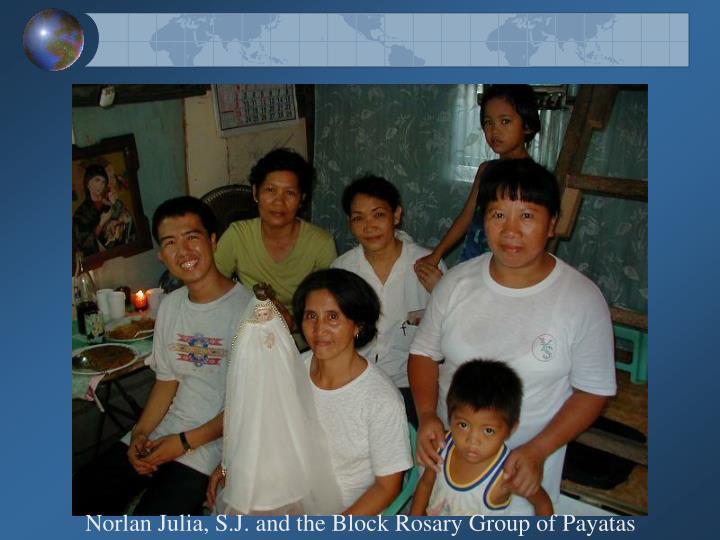 Norlan Julia, S.J. and the Block Rosary Group of Payatas