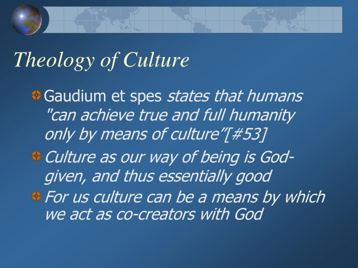 Theology of Culture