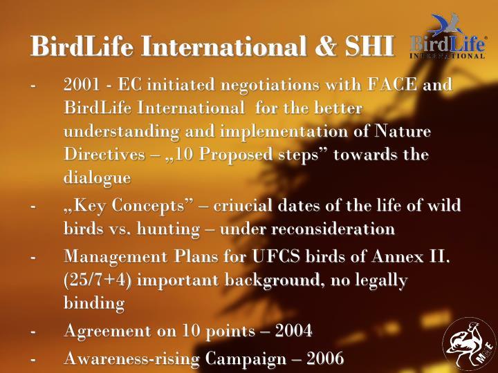 BirdLife International & SHI