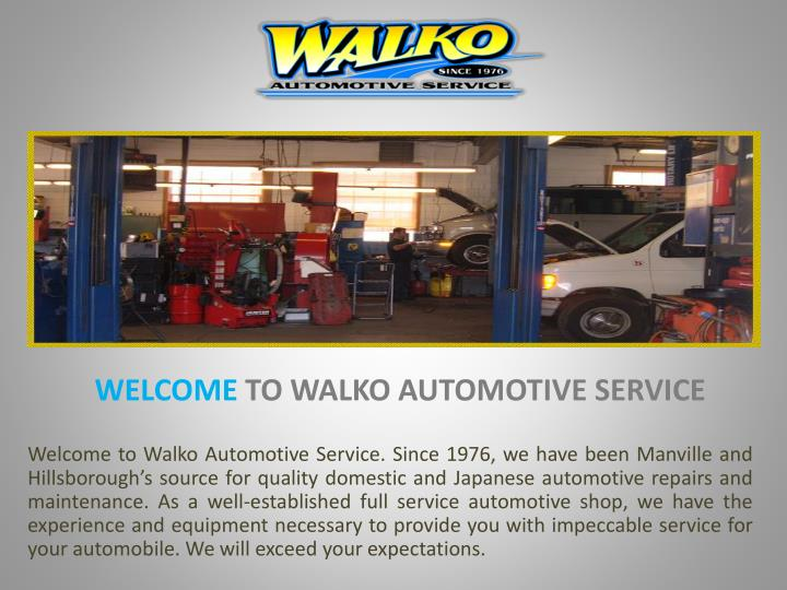 Welcome to walko automotive service