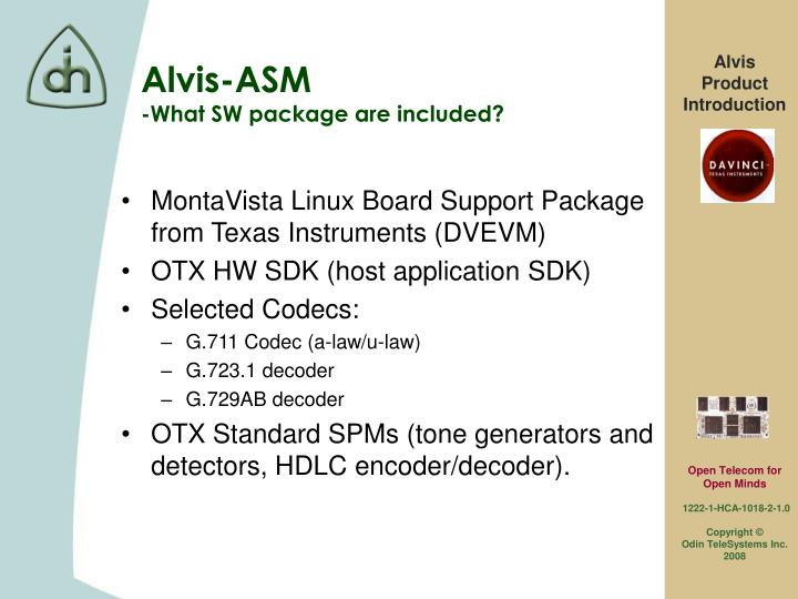 MontaVista Linux Board Support Package from Texas Instruments (DVEVM)