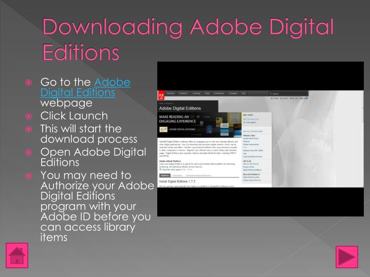 Downloading Adobe Digital Editions