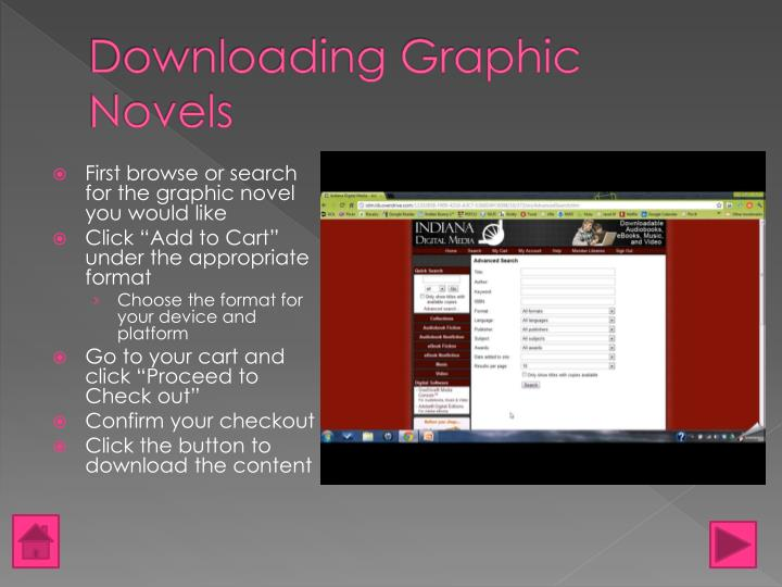 Downloading Graphic Novels