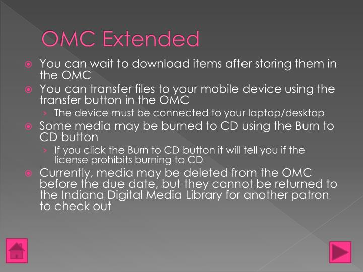 OMC Extended