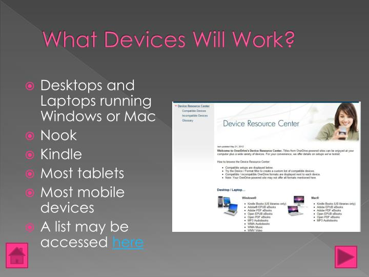 What Devices Will Work?