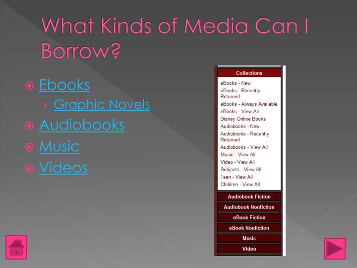 What Kinds of Media Can I Borrow?