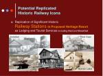 potential replicated historic railway icons
