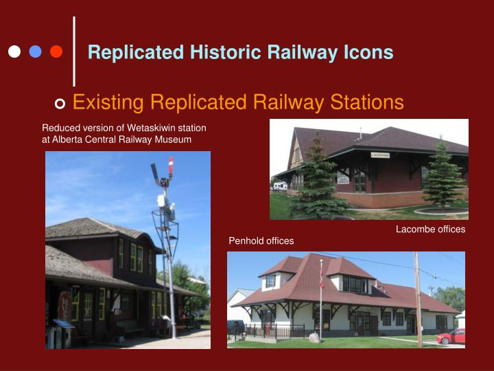 Replicated Historic Railway Icons