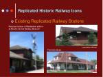 replicated historic railway icons