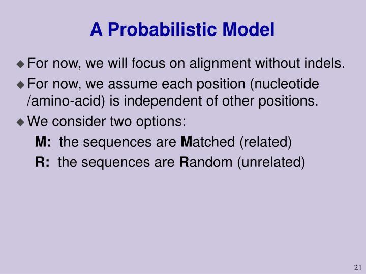 A Probabilistic Model