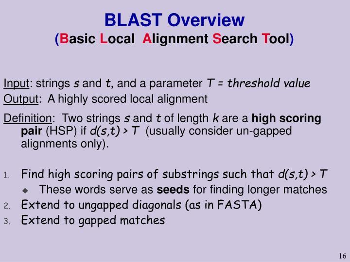 BLAST Overview