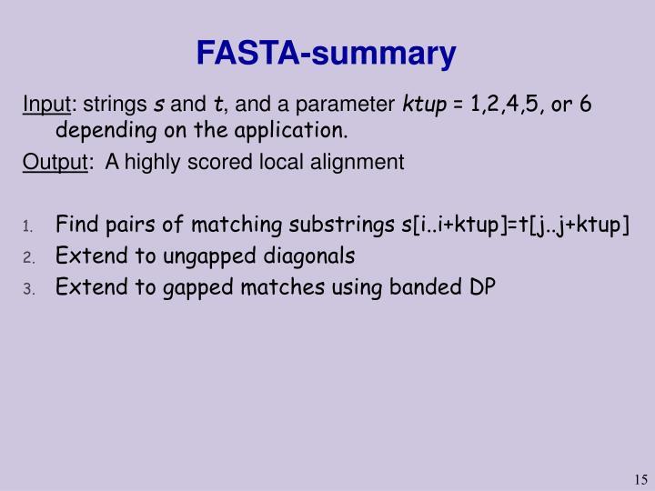 FASTA-summary