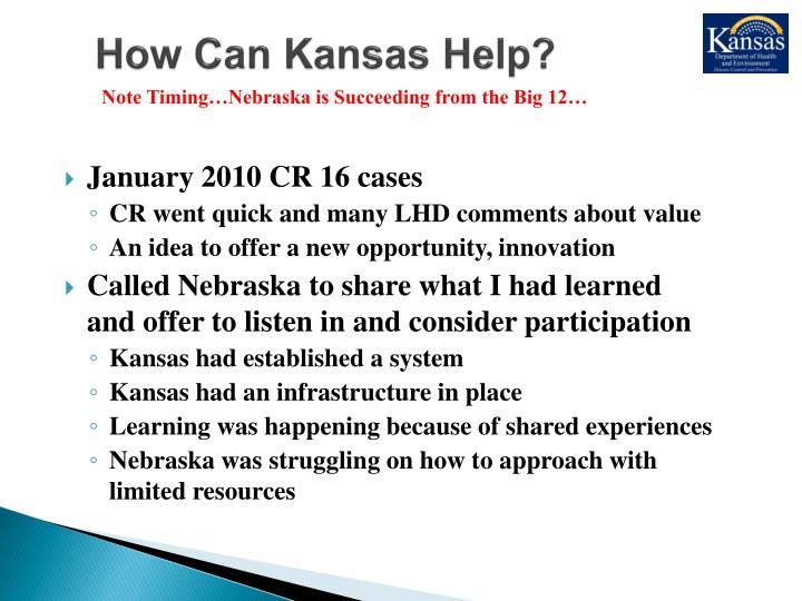 How Can Kansas Help?