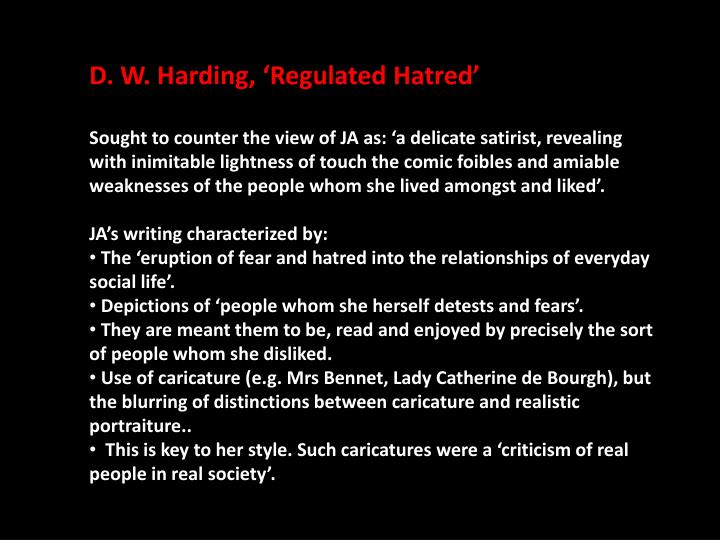D. W. Harding, 'Regulated Hatred'