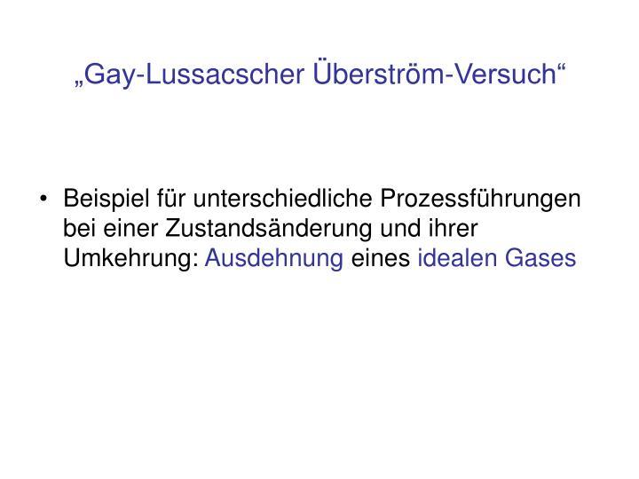 """""""Gay-Lussacscher Überström-Versuch"""""""