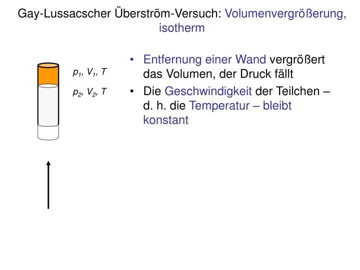 Gay-Lussacscher Überström-Versuch: