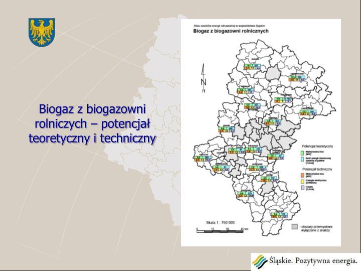 Biogaz z biogazowni rolniczych – potencjał teoretyczny i techniczny