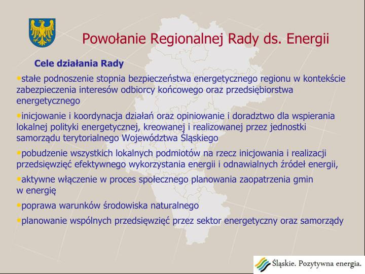 Powołanie Regionalnej Rady ds. Energii
