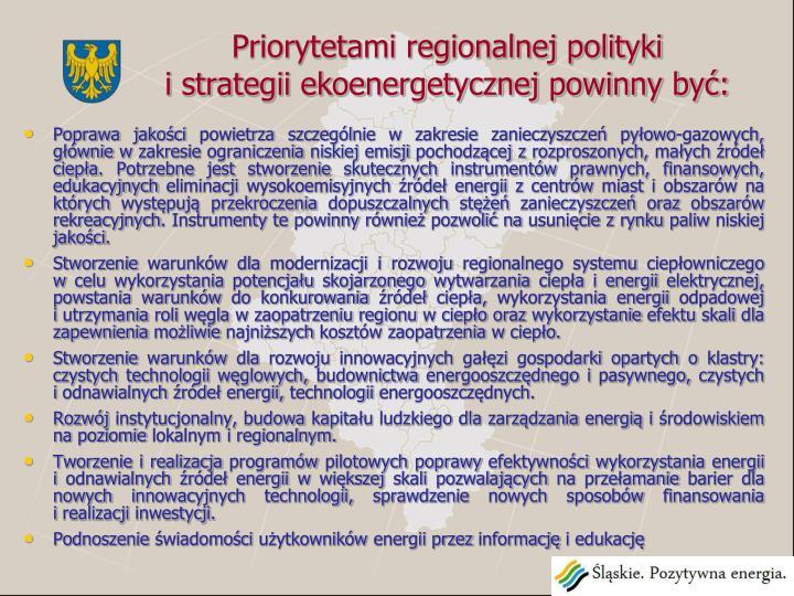 Priorytetami regionalnej polityki