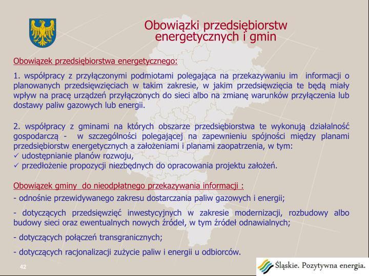 Obowiązki przedsiębiorstw energetycznych i gmin