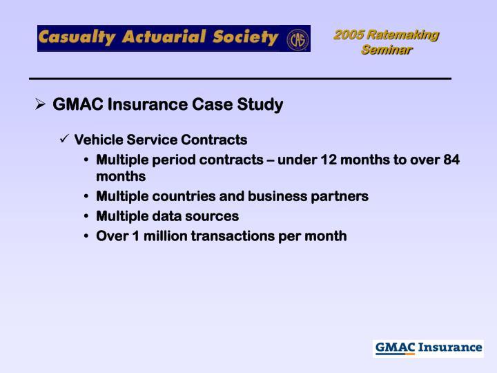 GMAC Insurance Case Study