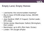 empty land empty homes